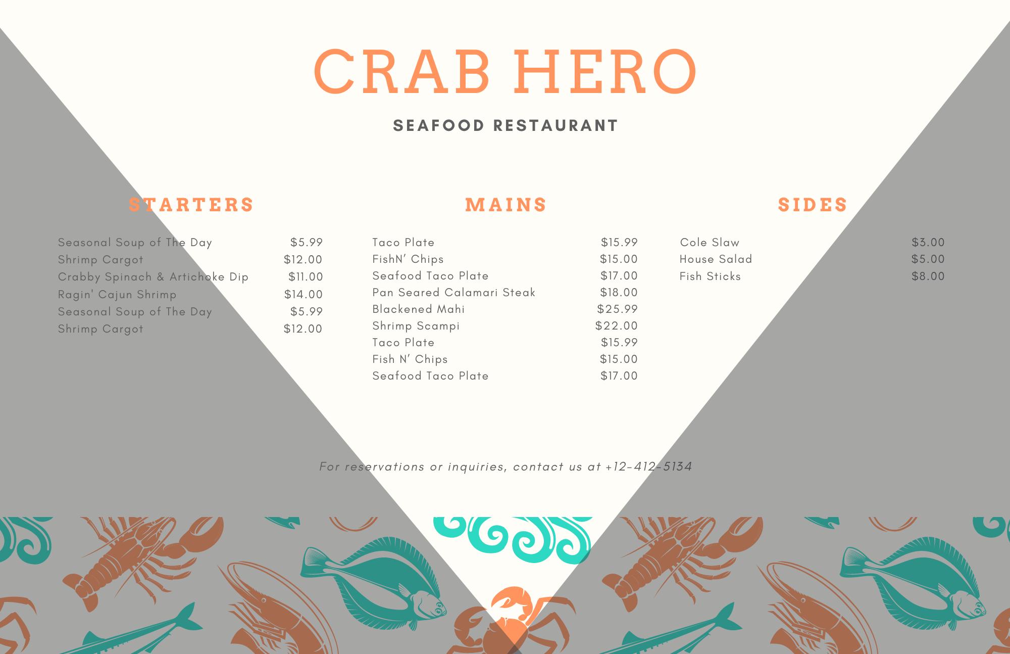 układ menu